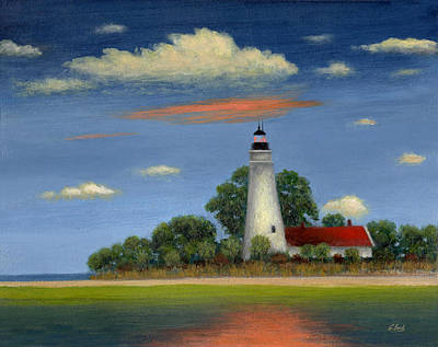 Historic Site Painting - St. Mark's Light Florida by Gordon Beck
