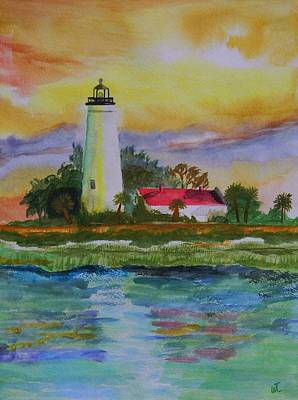St. Marks Lighthouse-2 Art Print by Warren Thompson