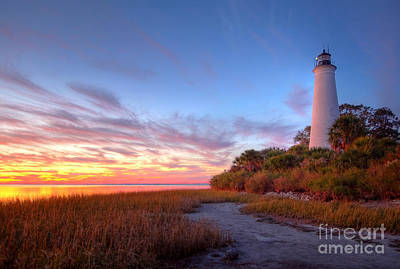 St Marks Lighthouse  Art Print by Denis Tangney Jr