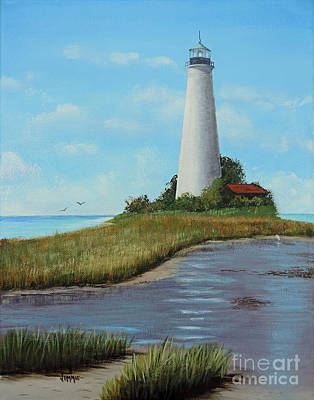 Painting - St. Mark's Lighthouse Painting by Jimmie Bartlett