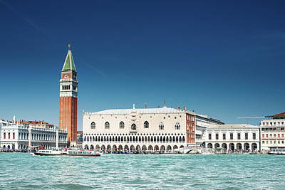 St Marks Square With Venice Skyline Art Print by Franckreporter