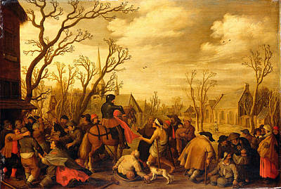 Painting - St. Martin Cutting A Piece Of His Coat To Give To A Beggar by Joost Cornelisz Droochsloot