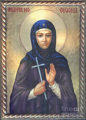 St. Martyr Eugenia Art Print by Zorina Baldescu