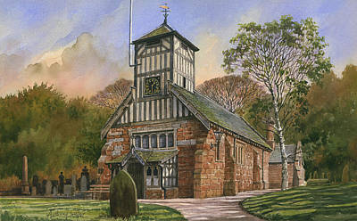 St. Mary And All Saints Art Print by Anthony Forster