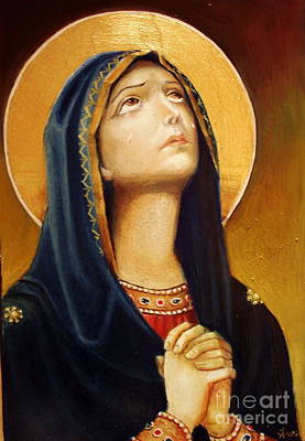 St Mary Painting - St Mary Icon by Sorin Apostolescu