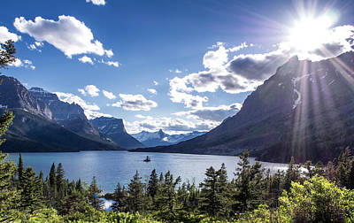 St. Mary Lake Art Print