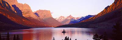 St. Mary Lake At Us Glacier National Art Print