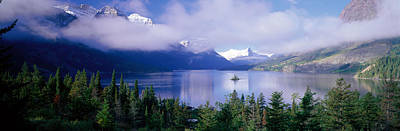 St Mary Photograph - St Mary Lake, Glacier National Park by Panoramic Images
