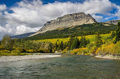 Photograph - St. Mary River And East Flattop Mountain by Greg Nyquist
