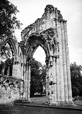 Thomas Kinkade Rights Managed Images - St. Marys Abbey Royalty-Free Image by Ross Henton
