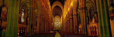 Nave Photograph - St. Marys Cathedral, Sydney, New South by Panoramic Images