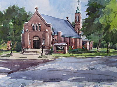 Mount Vernon Painting - St Marys Catholic Church by Spencer Meagher