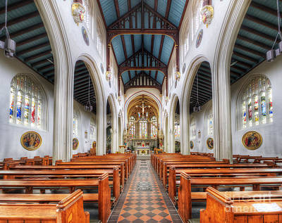 Photograph - St Mary's Catholic Church - The Nave by Yhun Suarez