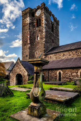 Graveyard Digital Art - St Marys Church by Adrian Evans