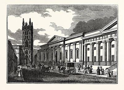 St. Marys Church, And The Townhall Print by Litz Collection