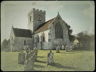 St Marys Church Dinton And Churchyard Art Print