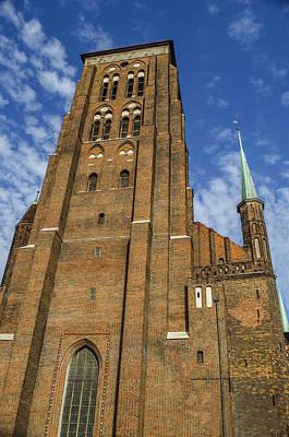 St. Mary's Church In Gdansk Art Print by Adam Budziarek