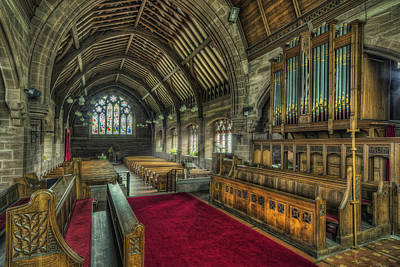 St Marys Church Organ Art Print by Ian Mitchell