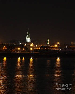 Photograph - St Mary's Church Southampton At Night by Terri Waters
