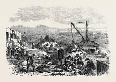St. Marys Island The Convicts At Labour Chatham Prison 1861 Art Print