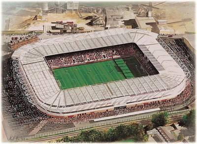 St Mary's Stadium - Southampton Art Print
