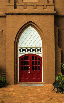 Photograph - St Matthews Church Entrance Charleston by Gary Slawsky