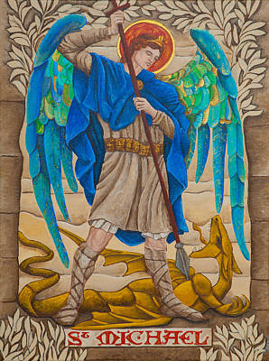 Orthodox Drawing - St. Michael by Jason Honeycutt