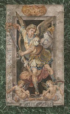 Law Enforcement Art Painting - St. Michael by John Kiernan