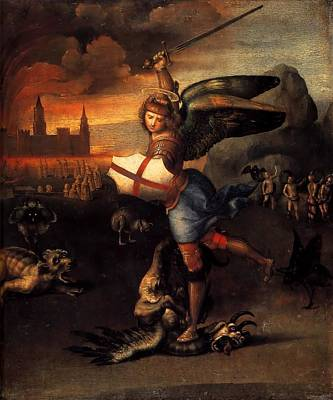 1505 Painting - St. Michael by Raffaello Sanzio