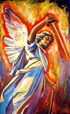Christian Artwork Painting - St. Michael by Sheila Diemert