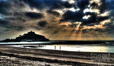 Sun Rays Mixed Media - St. Michaels Mount by Anthony Hedger