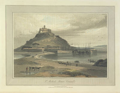 St Michaels Mount Art Print by British Library