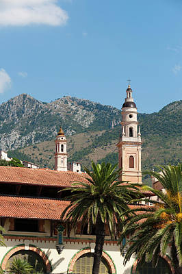 Menton Photograph - St Michel Church Bell Tower And Old by Sergio Pitamitz