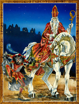 Painting - St Nicholas And Dark Peter by Lynette Yencho