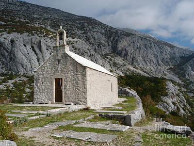 Photograph - St Nicholas Church On Biokovo Mountain by Phil Banks