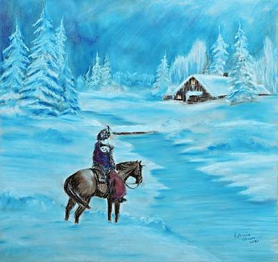 Pastel - St. Nicholas by Patricia Olson