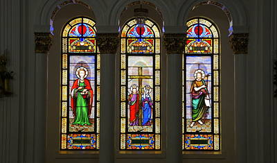 Photograph - St. Nicholas Window by Laurie Perry