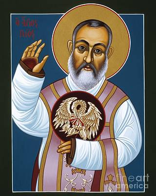 Painting - St. Padre Pio Mother Pelican 047 by William Hart McNichols