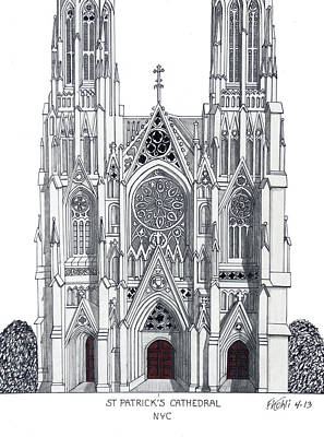 Mixed Media - St Patrick's Cathedral by Frederic Kohli
