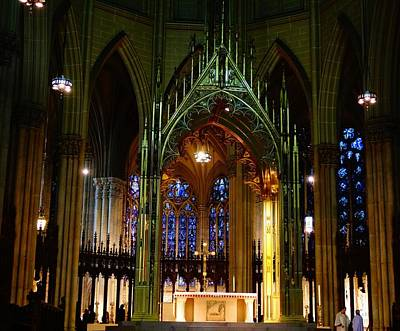 St. Patrick's Cathedral In New York City Art Print by Dan Sproul