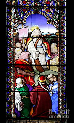 Stained Glass Ireland Photograph - St Patrick's Cathedral Stained Glass Window by Christiane Schulze Art And Photography