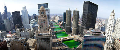 Il Photograph - St. Patricks Day Chicago Il Usa by Panoramic Images