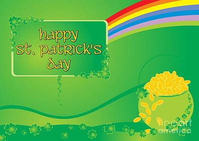 Digital Art - St. Patrick's Day Rainbow by JH Designs