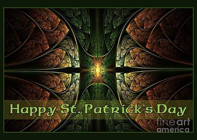 Digital Art - St. Patrick's Irish Jewel by JH Designs