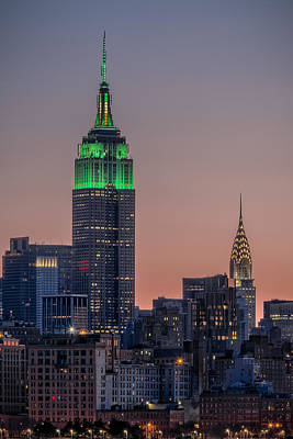 Skylines Royalty-Free and Rights-Managed Images - St Patricks Day postcard by Eduard Moldoveanu