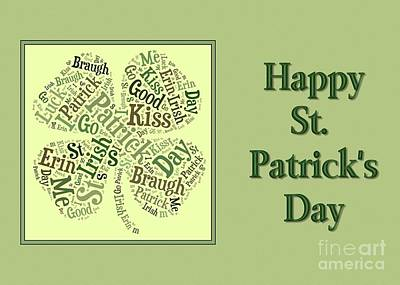 Digital Art - St. Patty's Clover Collage by JH Designs