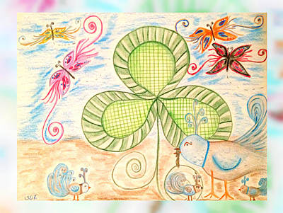 St Pattys Day Lunch Art Print by Sherry Flaker