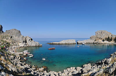 Photograph - St Paul Bay In Rhodes Island by George Atsametakis