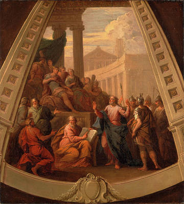 St. Paul Before Agrippa, Sir James Thornhill Art Print
