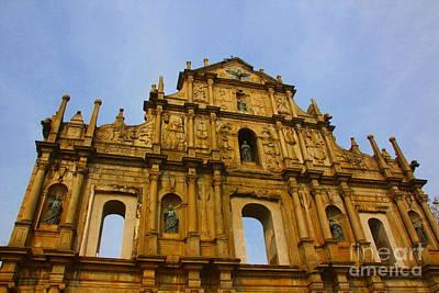 Church Photograph - St. Paul Church In Macao by Amanda Mohler
